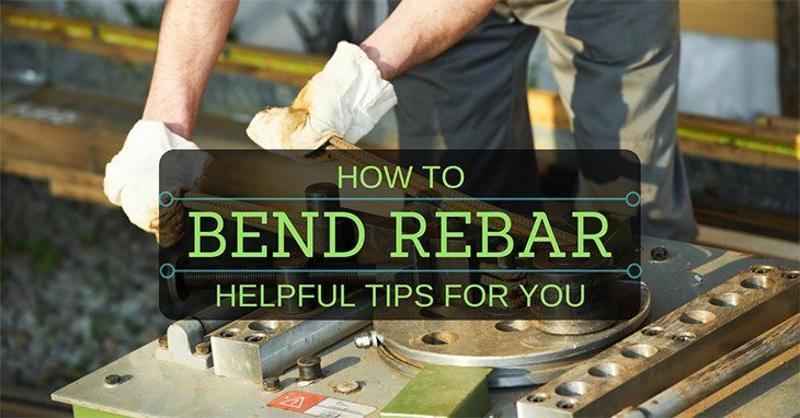 step by step to bend rebar