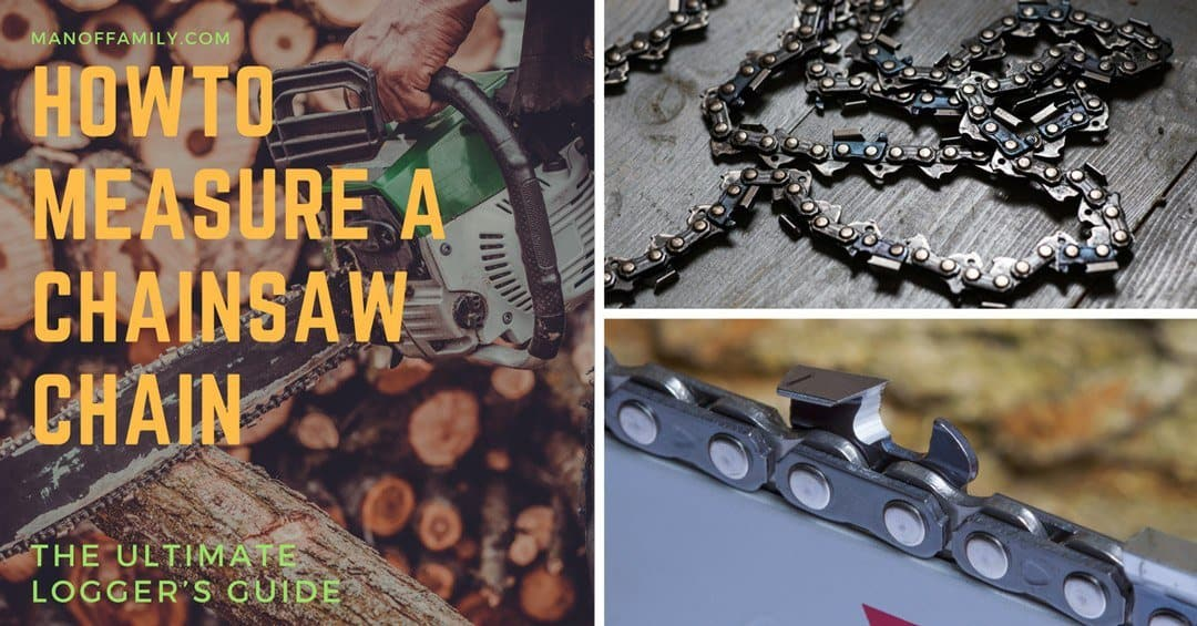 measure a chainsaw chain