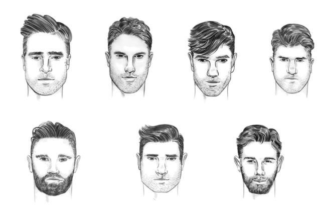 farklı tipler erkek yüz şekilleri