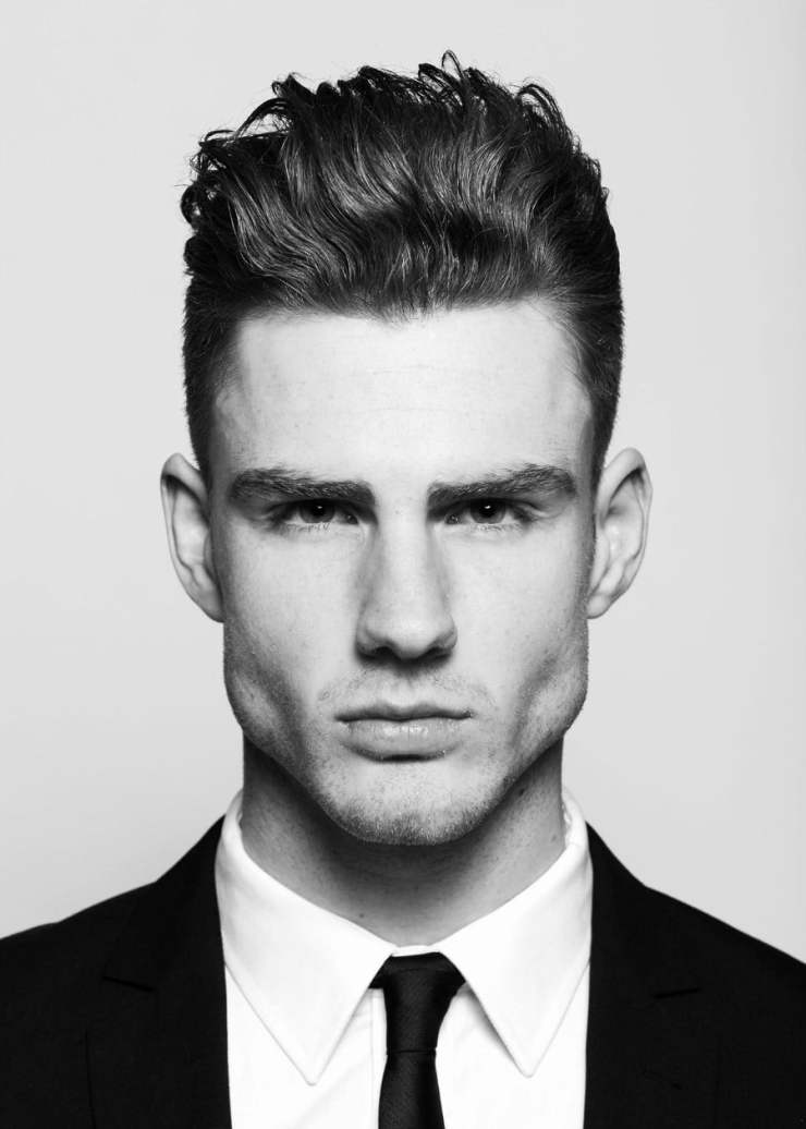 Short Haircut & Hairstyle for Man - Tall Pompadour