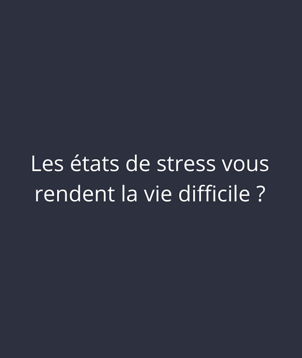 Stress Angers