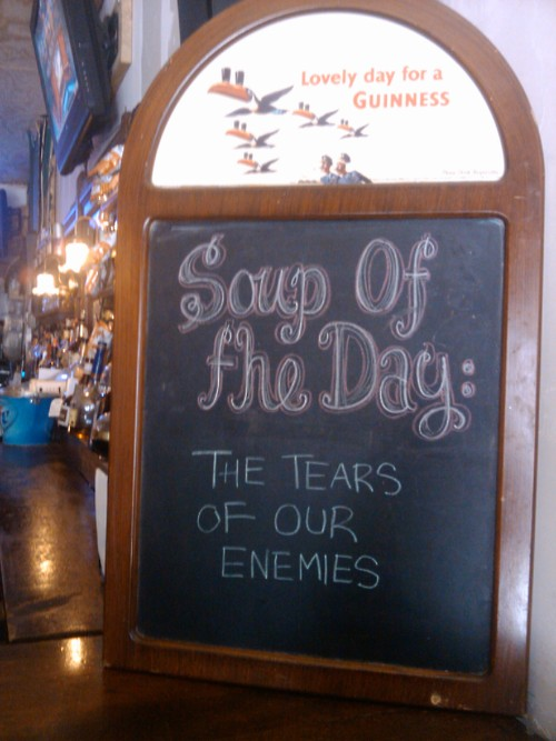 Soup of the Day Tears of our enemies