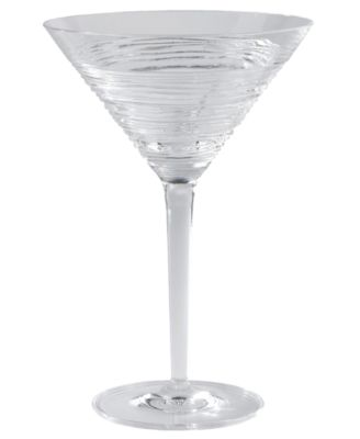 Wood Grain Martini glass by Michael Aram for Waterford