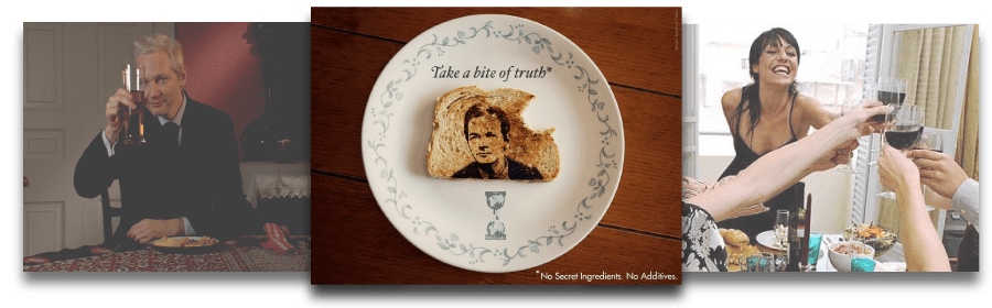A toast to Julian Assange