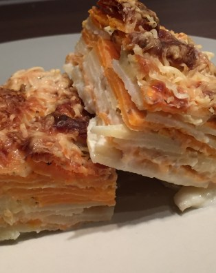Manon cooks gratin duophinois pomme de terre patate douce