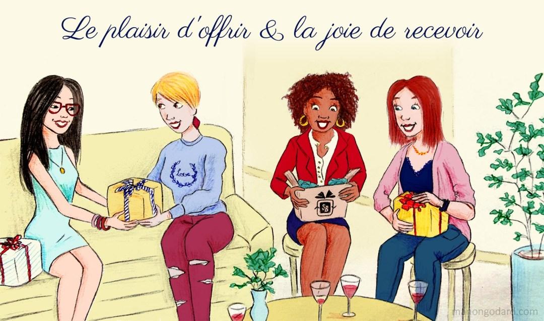 Illustration personnalisée pour la bannière de la blogueuse Lumitea - Illustratrice : Manon Godard