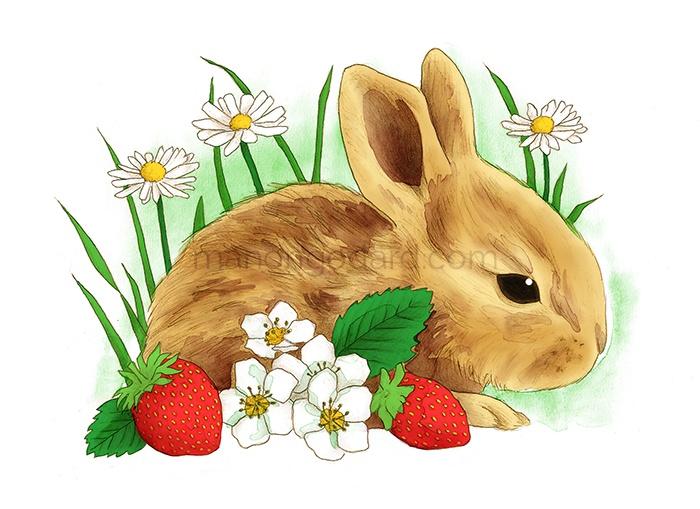 Illustration de Pâques (+ vidéo du dessin) • ManonGodard.com