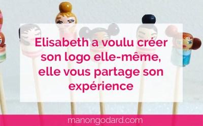 Elisabeth a voulu créer son logo elle-même, elle te partage son expérience