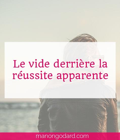 """""""Le vide derrière la réussite apparente"""" par Manon Godard"""
