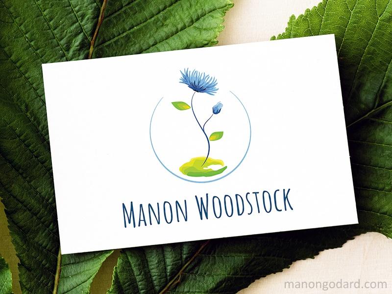 Logo de Manon Woodstock, entrepreneuse - accompagnements à l'écologie - par Manon Godard