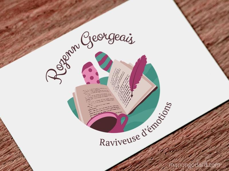 Logo de Rozenn Georgeais, entrepreneuse, conteuse, écrivaine, par Manon Godard