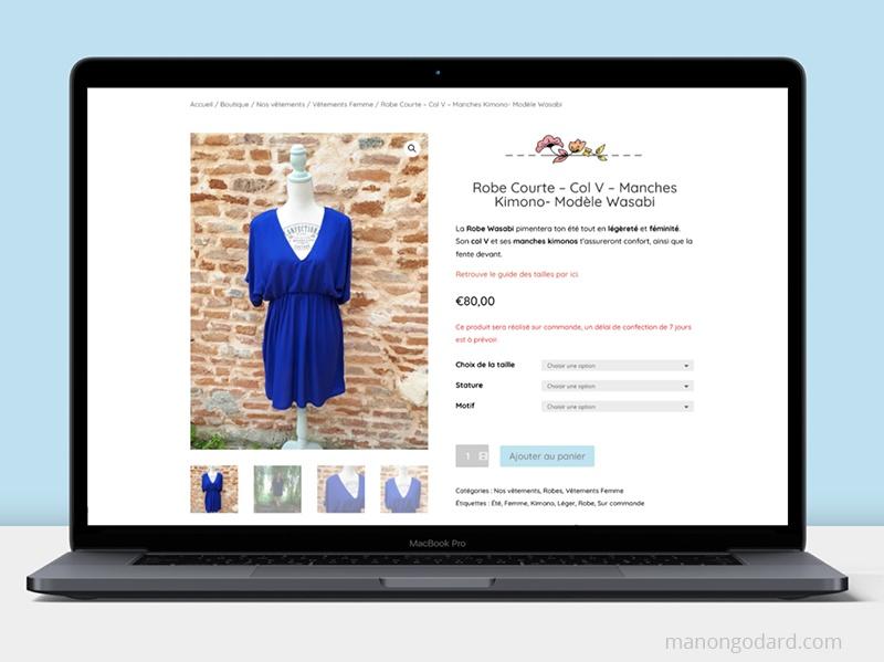 Boutique en ligne Vêtements et créations textiles eco-cousus, par Manon Godard