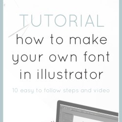 How to make a font within Illustrator