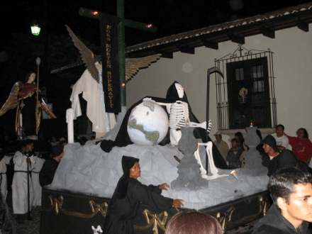 Semana Santa Antigua Guatemala at Night Grim Reaper