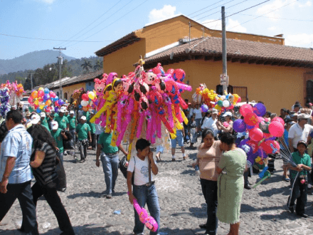 Semana Santa After the Procession -- Holy Easter Week Good Friday Easter Sunday in Antigua, Guatemala