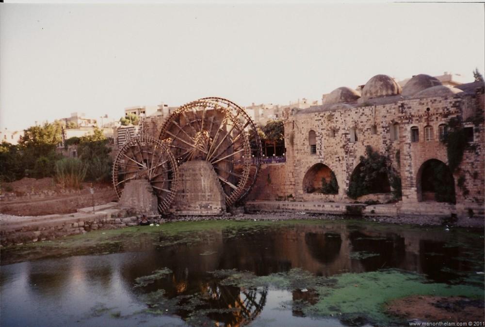 Hama Syria Noria Water Wheel
