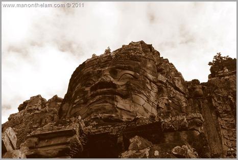 Face of Avalokeshvara, Bayon, Angkor, Cambodia