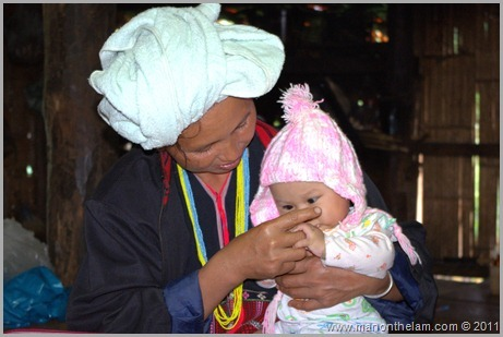 Grandma with baby, Hill Tribe, Hill Trek, Northern Thailand