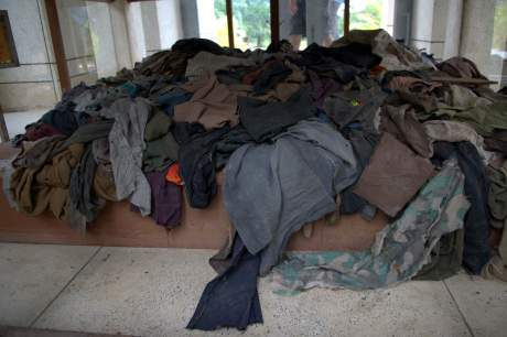 Clothes collected from Choeung Ek