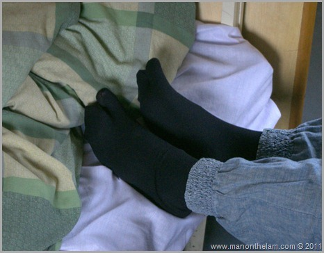 Pantyhose with toe separator