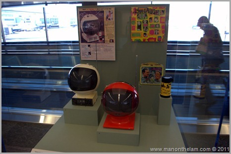 Collectible television sets on display, San Francisco airport musuem