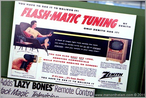 Flash-matic tuning remote control ad, , San Francisco airport museum