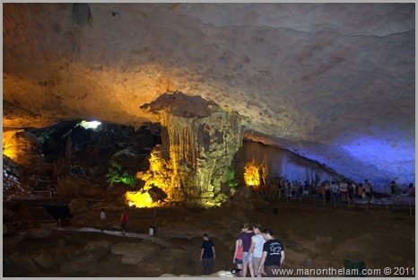 Panoramic view of Surprise Cave Halong Bay Vietnam