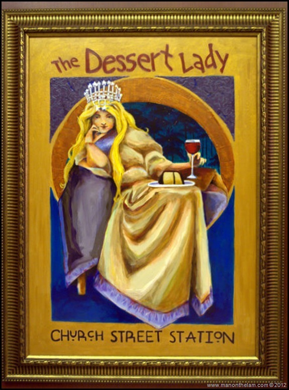 The Dessert Lady poster sign, Church Street, Orlando -- American Ghost Adventures, Orlando, Florida - Aeroplan