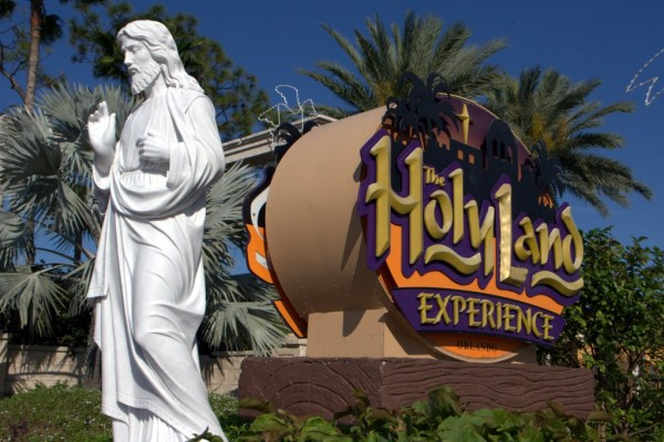 The Holy Land Experience, Orlando, Florida -- sign at main entrance