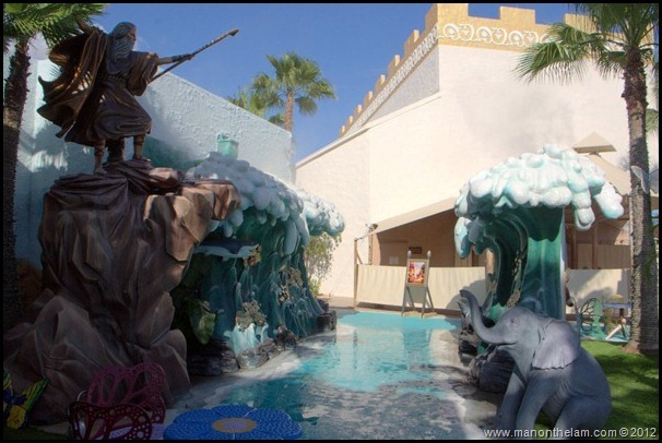 Moses parts the Red Sea -- Holy Land Experience.