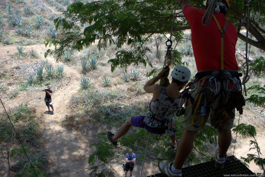 Rapelling after the final zipline Huana Coa Canopy Adventure Mazatlan Mexico # & Huana Coa Zipline Canopy Tour with #GoMazatlanNow - Man On The Lam ...