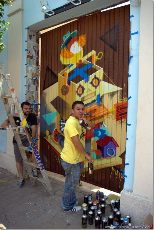 Mazatlan, Mexico Street Art Graffiti artists at work @GoMazatlanNow