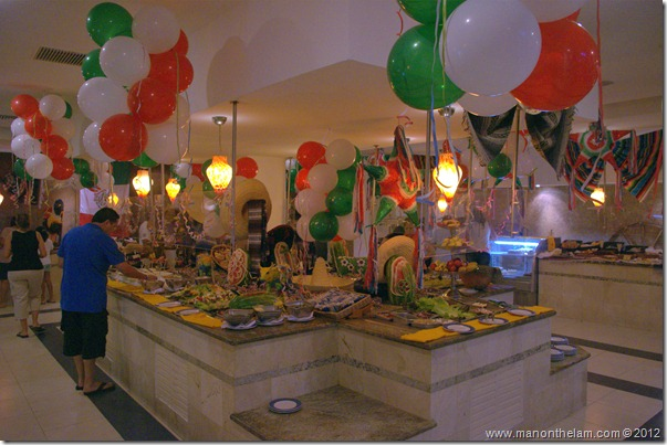 Alhambra buffet -- Hotel Marina El Cid Spa & Beach Resort in Mexico's Mayan Riviera