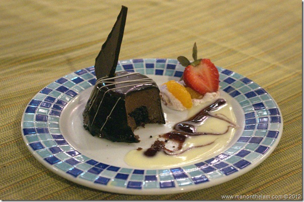 Chocolate cheesecake dessert, Hotel Marina El Cid Spa & Beach Resort in Mexico's Mayan Riviera