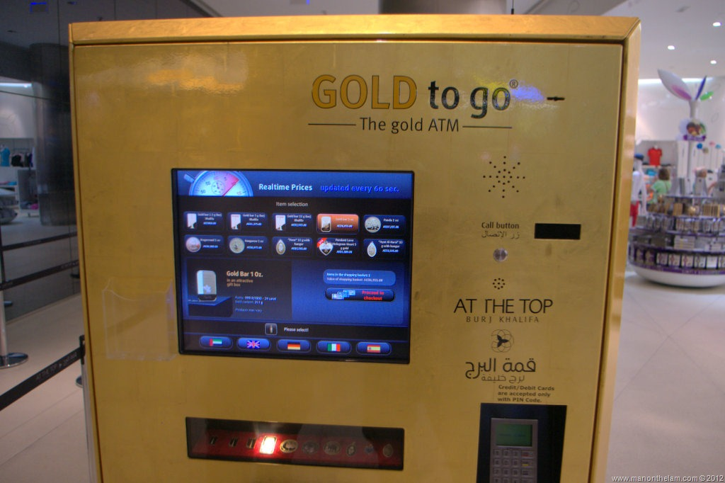 Image result for gold in AUE ATM