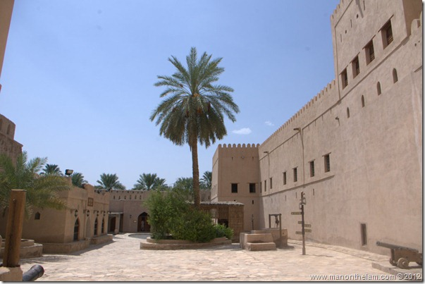 Nizwa Fort is castle in Nizwa, Oman