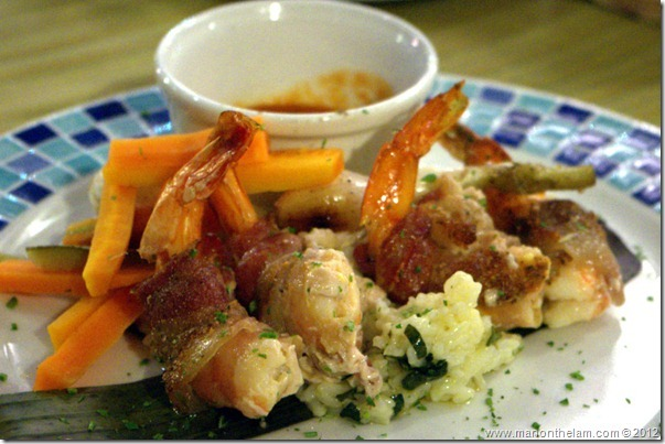 bacon-wrapped shrimp -- Hotel Marina El Cid Spa & Beach Resort in Mexico's Mayan Riviera