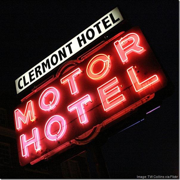 Clermont Motor Hotel and Lounge Sign, Atlanta Georgia