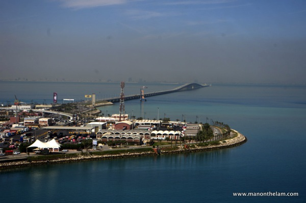 Looking toward Saudi Arabia King Fahd Causeway Bahrain