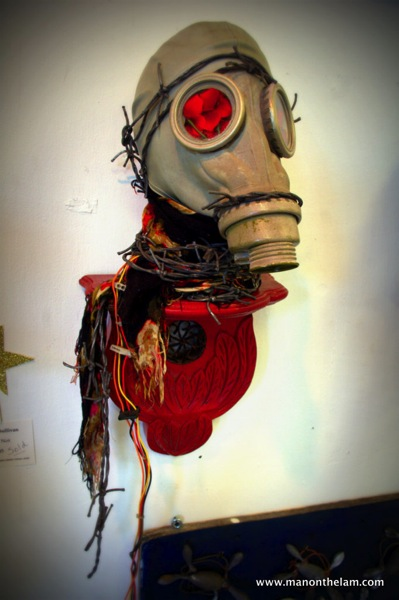 gas mask art