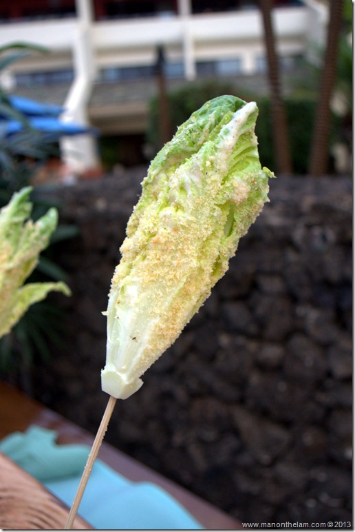 Caesar salad on a stick, Wailea Marriott, Maui