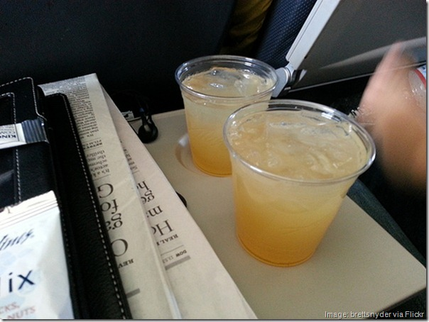 Mai Tais on Alaska Airlines flight to Maui