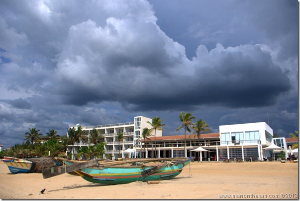 exterior of Jetwing Blue Hotel, Negombo, Sri Lanka