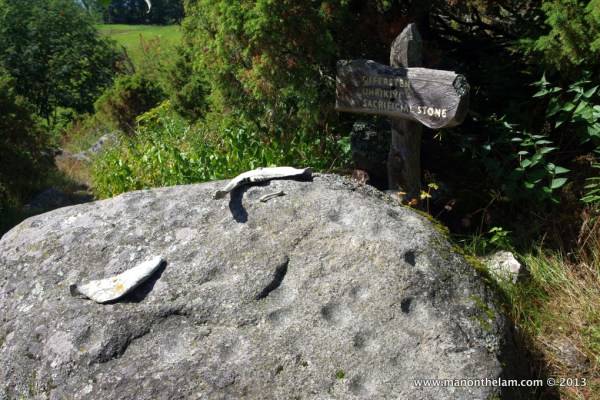 Sacrificial stone, Rosala Viking Centre, #VisitFinland