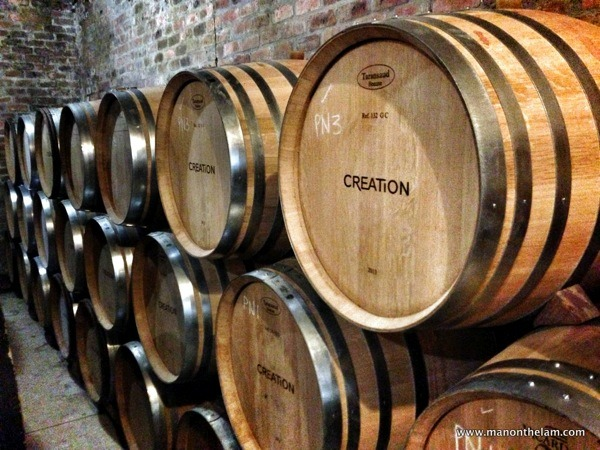 Creation Wines -- barrels, South African Wine