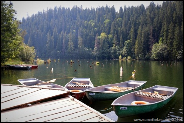 Red Lake near Bicaz Gorge, Neamt County, Romania, #priNeamt