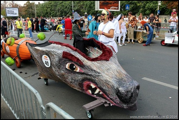 Red Bull Soapbox Race Bucharest Romania -- wild boar