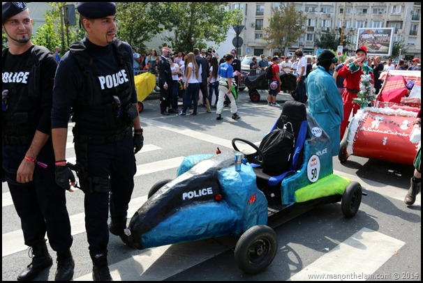 Red Bull Soapbox Race Bucharest Romania -- futuristic police car design
