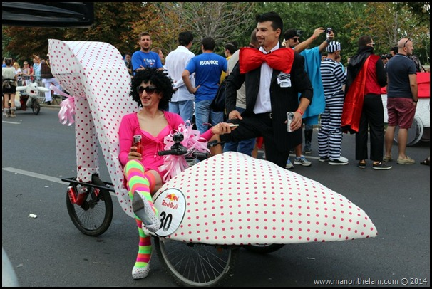 Red Bull Soapbox Race Bucharest Romania -- high heel shoe racer design