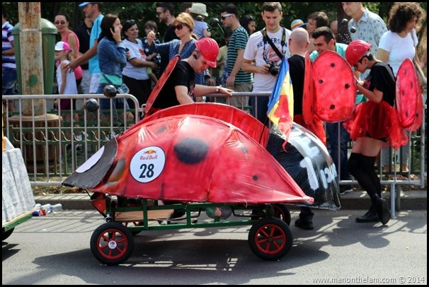 Red Bull Soapbox Race Bucharest Romania --ladybug racer car design